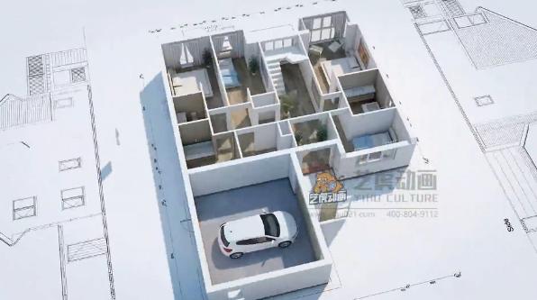 房子建筑三维动画